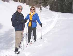 Snowshoeing in Northern New Mexico high desert and alpine areas of the Rocky Mountains